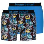 bruno banani unterhose herren boxer short pant blau print COMIC 2 Pack