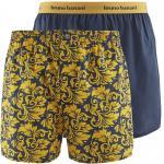 bruno banani boxershort boxer short herren unterhose ORNAMENTAL safran graphit 2 Pack