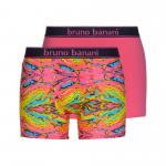 bruno banani unterhose herren boxer short pant pink gelb türkis PAINTER 2 Pack M/5