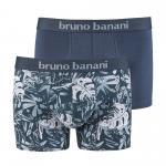 bruno banani short herren unterhose LEAVY grau weiß 2 Pack