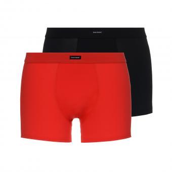 bruno banani unterhose herren boxer short pant rot schwarz COLOURED MICRO 2 Pack
