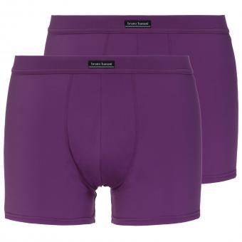 bruno banani unterhose herren boxer short pant violett COLOURED MICRO 2 Pack