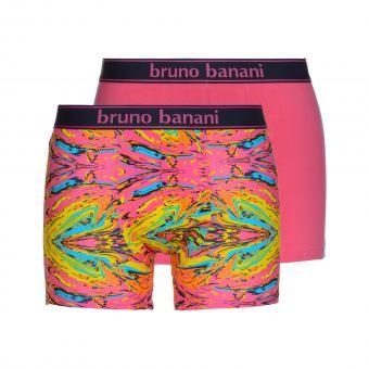 bruno banani unterhose herren boxer short pant pink gelb türkis PAINTER 2 Pack