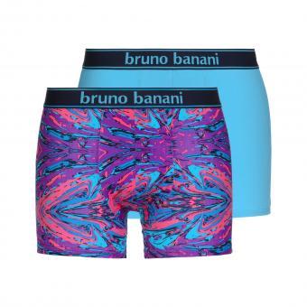 bruno banani unterhose herren boxer short pant violett pink türkis PAINTER 2 Pack