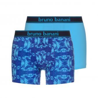 bruno banani unterhose herren boxer short pant türkis lila blau STAINED 2 Pack
