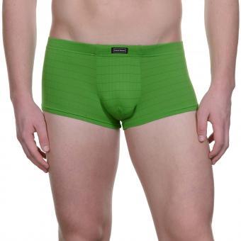 bruno banani herren unterhose hip short pant hipster trunk grün CHECK LINE