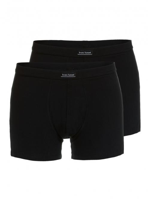 bruno banani unterhose herren boxer short pant schwarz COTTON SIMPLY 2 Pack
