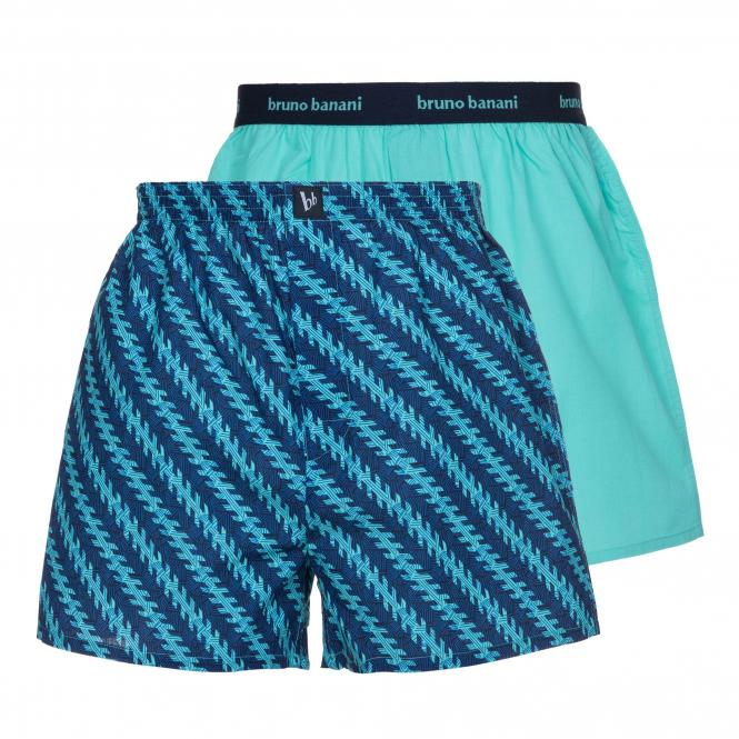 bruno banani boxershort boxer short herren unterhose MAVERICK blau mint 2 Pack