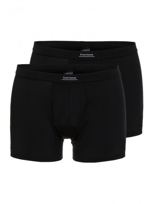 bruno banani unterhose herren boxer short pant schwarz MICRO SIMPLY 2 Pack