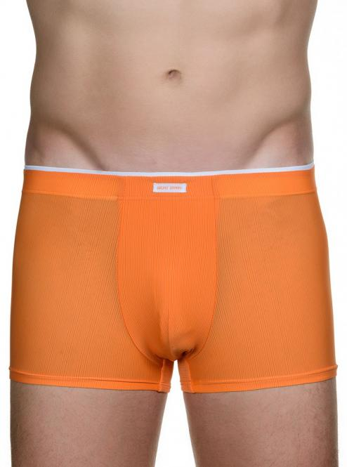 bruno banani herren unterhose hip short pant hipster trunk orange CHECK IN
