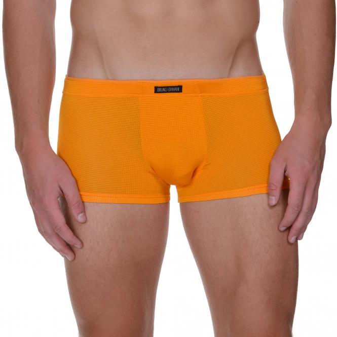 bruno banani herren unterhose hip short pant hipster trunk orange LAVA