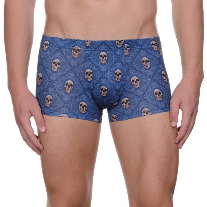 bruno banani herren unterhose hip short pant hipster trunk blau SHINY SKULL