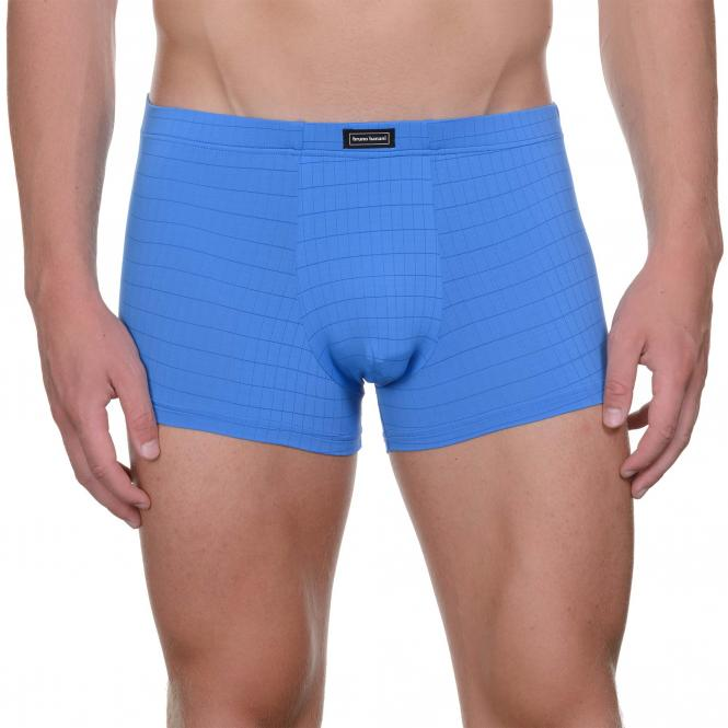 bruno banani unterhose herren boxer short pant blau CHECK LINE