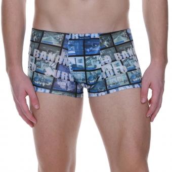 bruno banani hipshort hip short hipster herren unterhose blau SURVEILLANCE